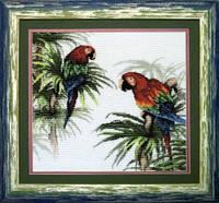Набор для вышивания крестом Пара попугаев