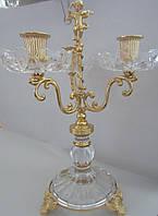 Подсвечник на 3 свечи с позолотой