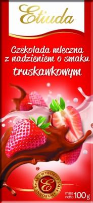 Шоколад Etiuda «Chocolate» ( со вкусом клубники),100 г