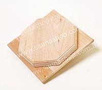 Анемостат, заглушка  для бани и сауны 160 мм., липа