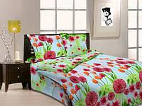 """Двуспальный комплект постельного белья 3Д """"Цветущий луг"""""""