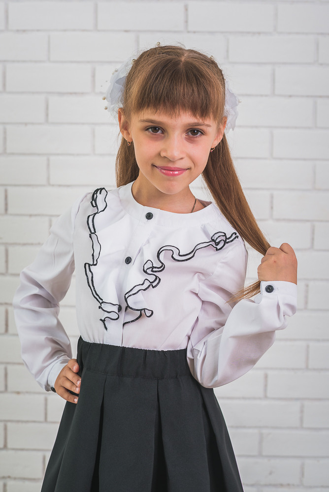Блузка для девочки с рюшами