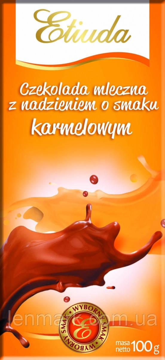 Шоколад Etiuda «Chocolate» со вкусом карамели, 100 г