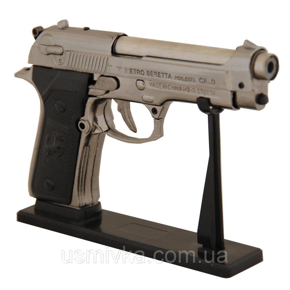 Зажигалка пистолет Беретта (большой) ZM33119