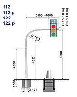 Опора для світлофорів та дорожніх знаків M112p L3 H6,5