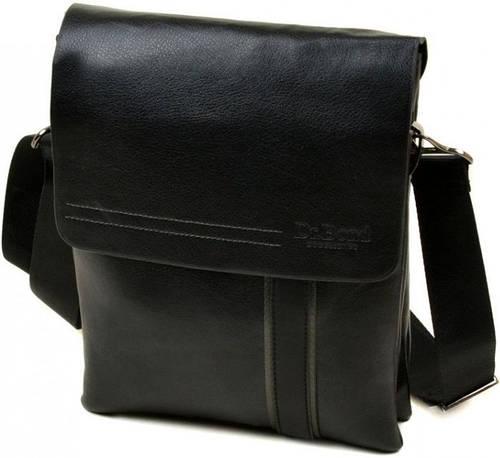 Прекрасная мужская сумка-планшет из искусственной кожи dr.Bond 88328-4 black, черный