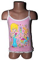 Топік дитячий для дівчинки подвійний рюшик (від 1 до 4 років)