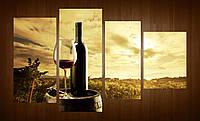 "Модульная картина ""Вино, закат"""