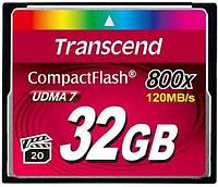 Карта памяти Transcend Compact Flash 32 GB (800X)