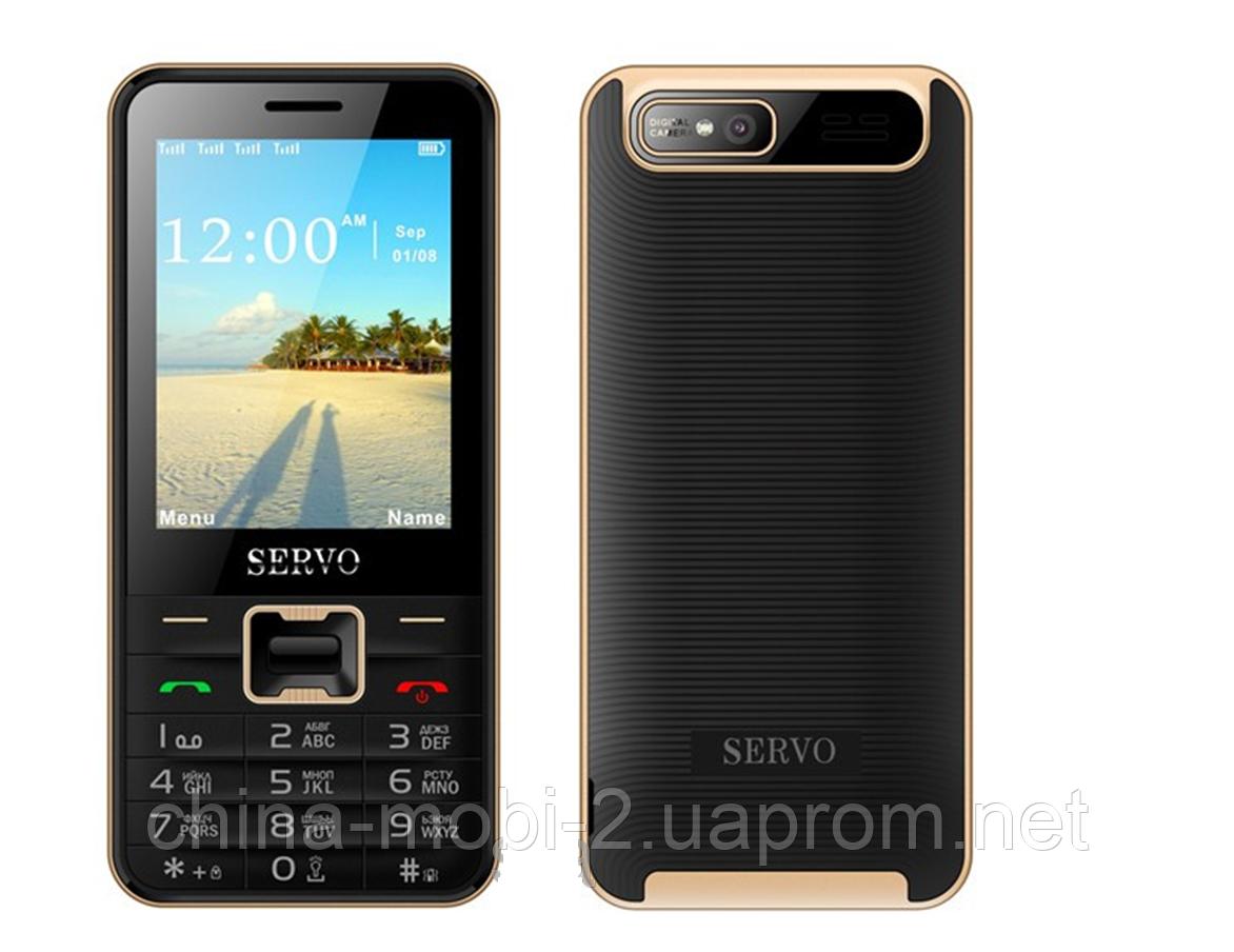 Телефон Servo V8100 -  4 sim black + чехол