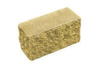 Кирпич декоративный модульный  угловой на сером цементе (красный, коричневый, оливковый, темно-серый)