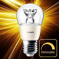 Светодиодная лампа Philips MAS LEDluster D 6.2-40W E27 827 P48 CL