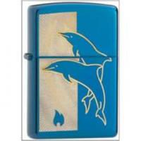 Бензиновая зажигалка Zippo 24296 JUMPING DOLPHINS (Прыгающие дельфины).