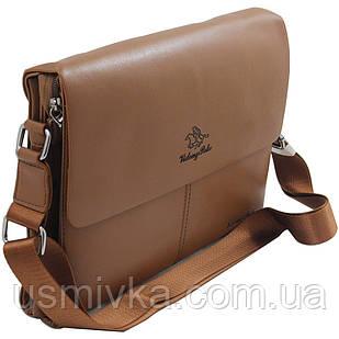Сумка мужская Videng Polo наплечная коричневая 54130