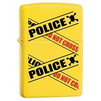 Бензиновая зажигала Zippo 28060 POLICE CAUTION (Предупреждение полиция).