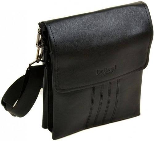 Качественная мужская компактная сумка планшет из искусственной кожи dr.Bond 88346-4 black, черный