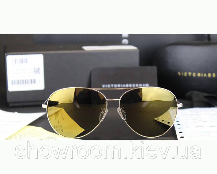 Солнцезащитные очки в стиле Victoria Beckham (3025) yellow