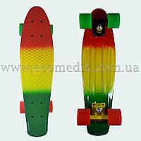 """Стильный скейтборд пенни борд красно-желто-зеленый penny board original 22"""", фото 1"""