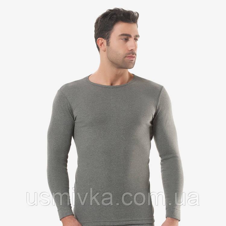 Турецкая футболка мужская рибана темно серая. FO17910213