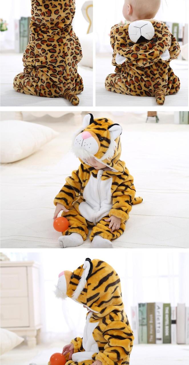 """Детский велюровый костюм с ушкам """"Тигр"""""""