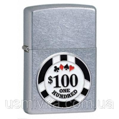 Бензиновая зажигалка Zippo 24053 Street Chrome (фишки для игры в покер).