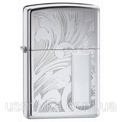 Зажигалка Zippo 21138 Scroll Design V Panel серая 21138