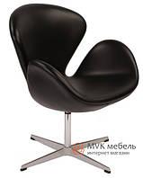 Кресло Swan (эко кожа) (черное)