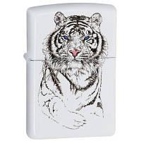 Зажигалка Zippo 24810 (шт.) TIGER WHITE (Белый тигр)