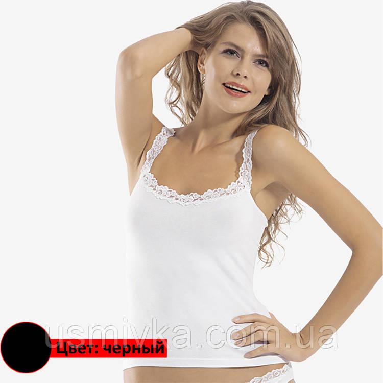 Майка женская чёрная, оптом, фирмы Oztas. DO179126701