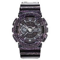 Спортивные наручные часы Casio G-SHOCK GA110SL с сиреневыми разводами, фото 1
