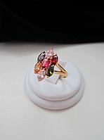 Позолоченное кольцо Семицветик
