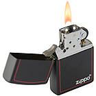 Зажигалка бензиновая Zippo 218 ZB BLACK MATTE (Черная матовая)., фото 3