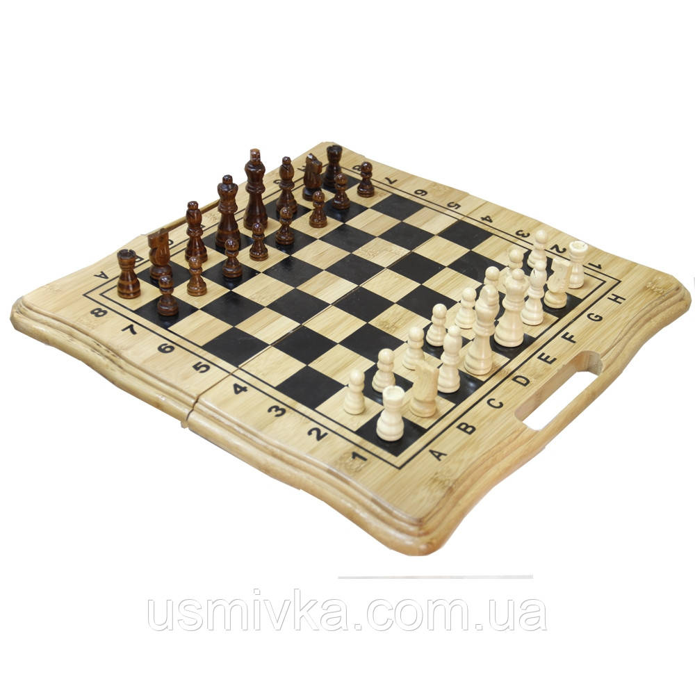 Игра шахматы, шашки и нарды на подарок. NN12191