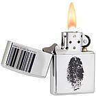 Зажигалка Zippo 20836 I.D.BRUSHED CHROME серая 20836, фото 3