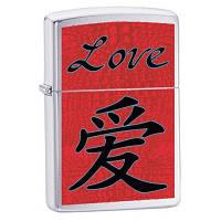 Бензиновая зажигалка Zippo 24263 Chinese Symbol Love (Китайский иероглиф любовь)