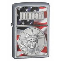 Бензиновая зажигалка Zippo 21074 The Face of Liberty (Статуя свободы).