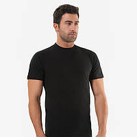 Чёрная футболка кулирка черная, Oztas.
