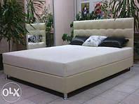 """Ліжко двоспальне ЛАГУНА з матрацом і ящиком для білизни, """"Квадрати""""№4, двоспальне"""