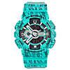 Спортивные наручные часы Casio G-SHOCK GA110SL бирюзового цвета
