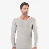 Спортивная мужская футболка рибана светло серая, Oztas. FO179110072