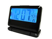 Электронные цифровые часы настольные будильник 2116