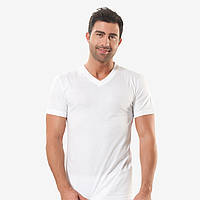 Турецкая мужская футболка белая кулирка, мыс. FO17911013