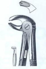 Щипцы экстракционные для нижних левых моляров (Пакистан) NaviStom