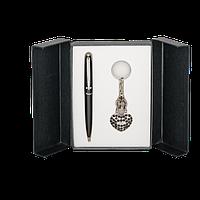 Набор подарочный Langres Corona LS.122004-01 ручка шариковая брелок, черный