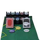Покерный набор в металлической коробке 200 фишек 62003, фото 2