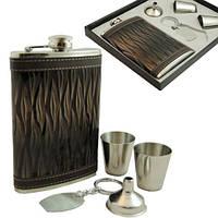 9oz Подарочный набор фляга, 2 стаканчика, брелок и лейка. FP91736, фото 1
