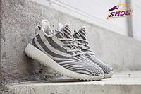 Крутые серые  мужские кроссовки будущего Adidas Yeezy Boost 550 Grey Zebra (модные новинки лето)