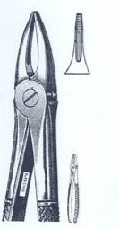 Щипцы экстракционные для корней верхних зубов и резцов(Пакистан) NaviStom