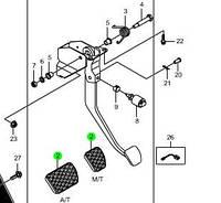 Накладка на педаль тормоза (пр-во SsangYong) 4887111100