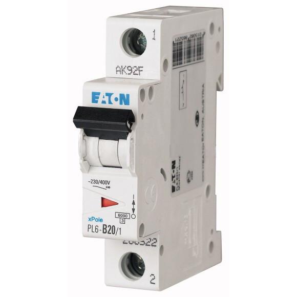 Автоматический выключатель Eaton (Moeller) PL6-C20/1 (286534)